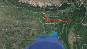 Map of location in Bangladesh where Golenoor lives