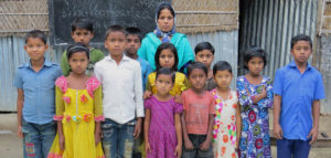 Children of STUP participants at their outdoor class