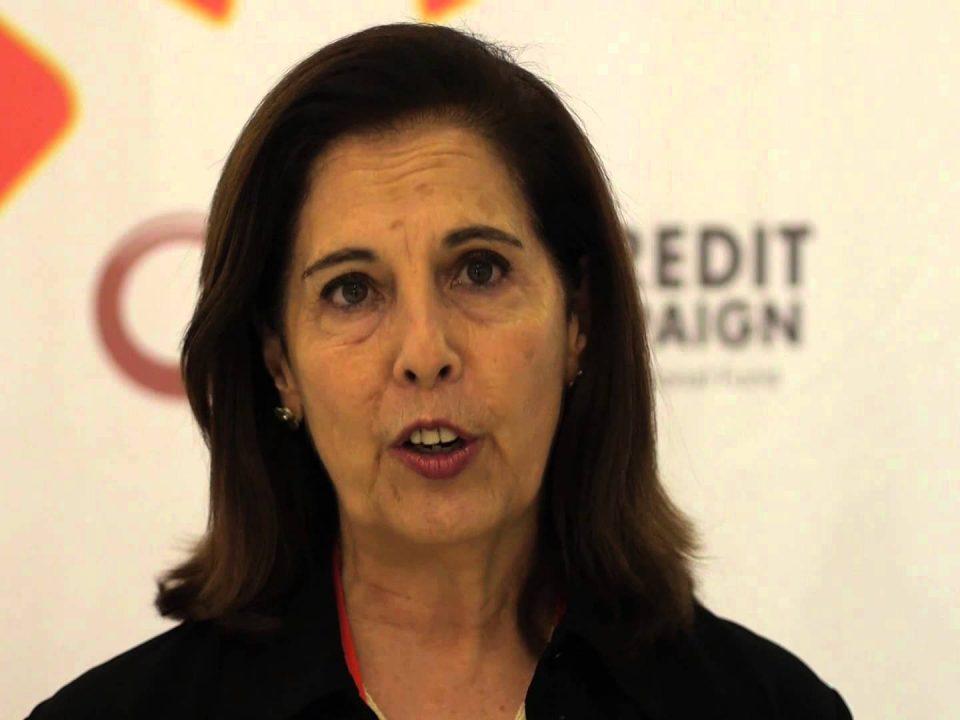 Carmen Velasco at Microcredit Summit in Merida